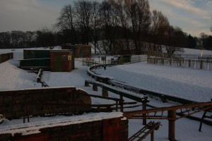 Snowy Twilight on the Station
